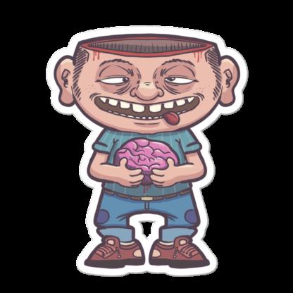 Sticker cerveau à l'air libre