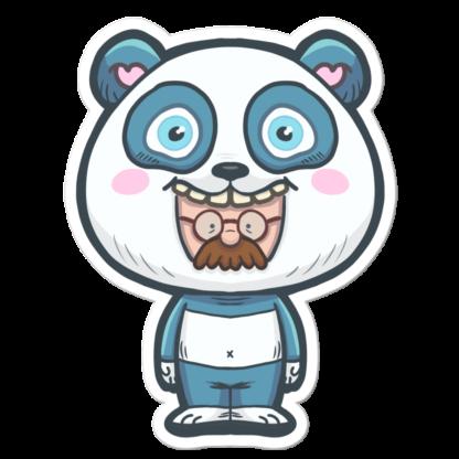 Sticker moustachu déguisé en panda