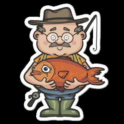 Sticker de pêcheur de poisson