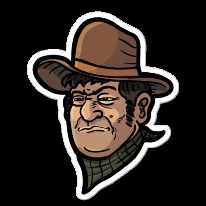 Sticker autocollant cowboy du far west