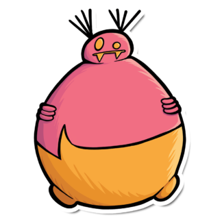 Fat Gourg Sticker