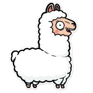 Lama sticker